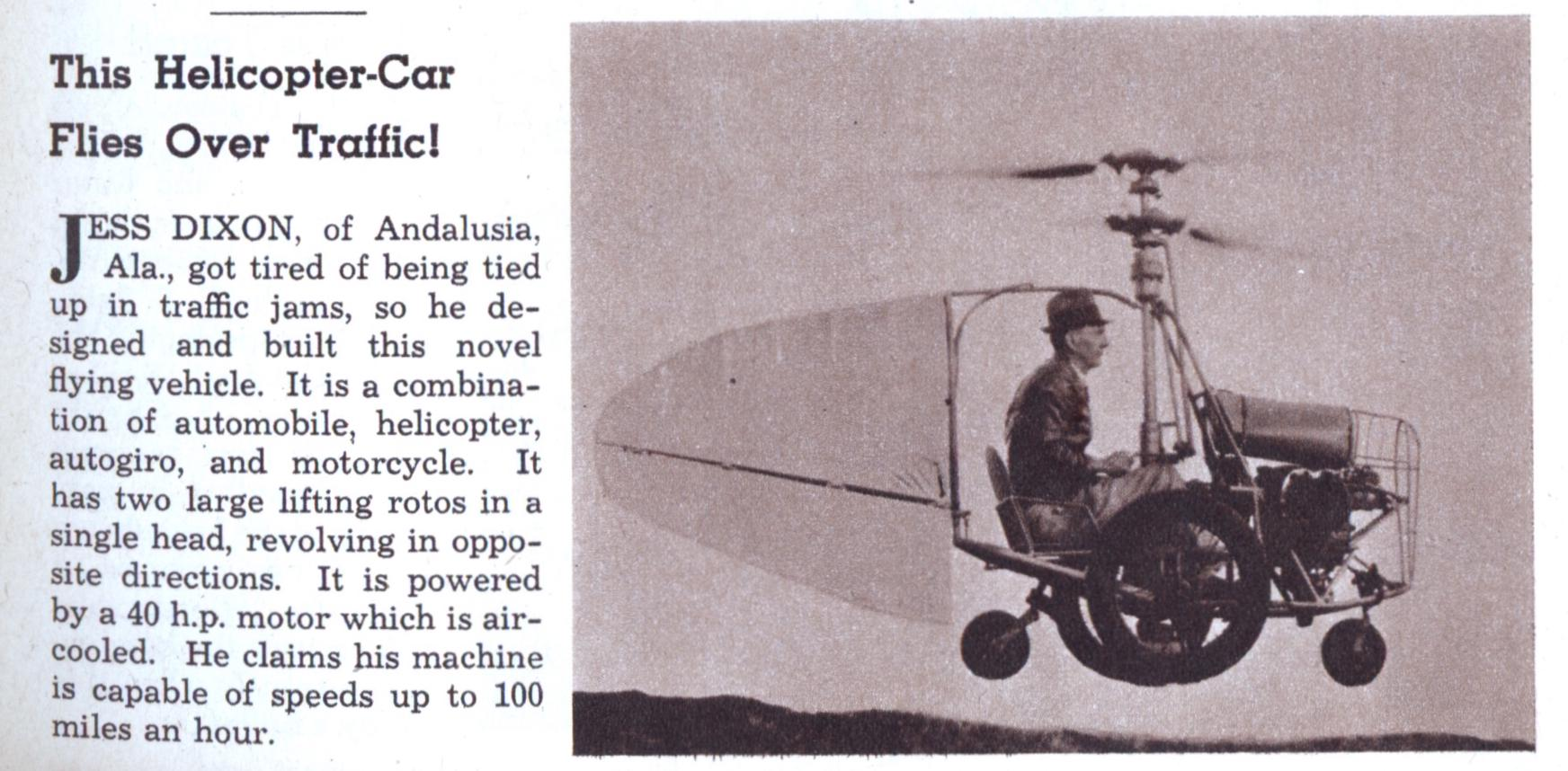 A helicopter-car